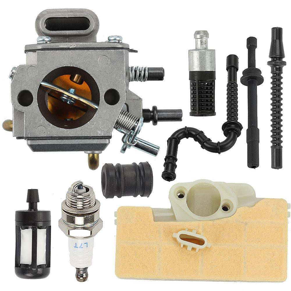 Butom MS290 Carburetor +Air Filter Tune Up Kit for Stihl MS310 MS390 029 039 Chainsaw Parts by Butom