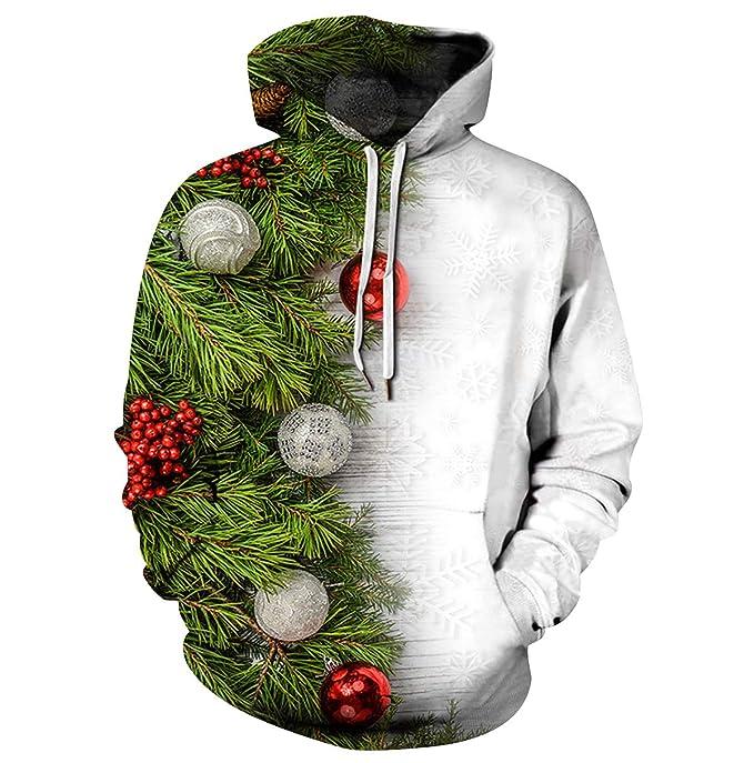 Sudaderas de Navidad con Capucha Hombre Jersey Navideño Mujer Sueter Sweaters Sudadera Estampadas Hoodies Personalizadas Sweaters Jerseys Navideños Renos ...