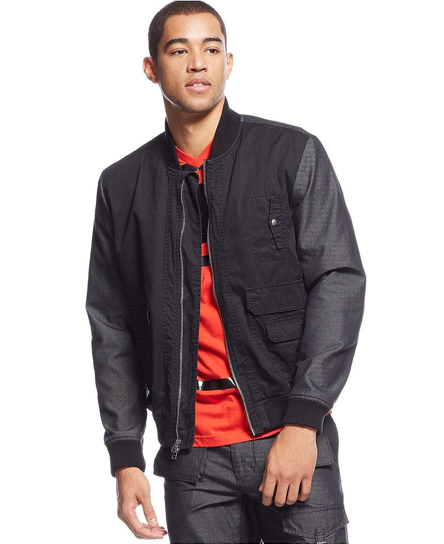 Black 2XL Sean John Mens Two-Tone Bomber Jacket