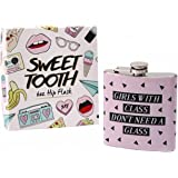 Sweet Tooth Girls With Class Hip Flask