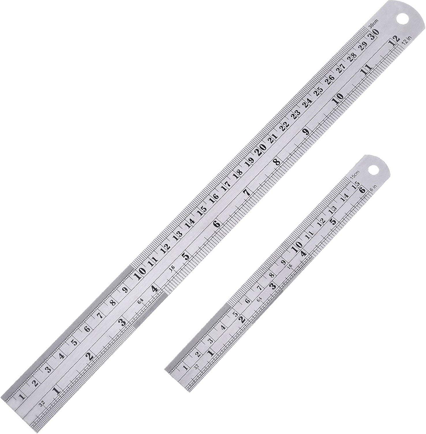 Stainless Steel Measuring Ruler Rule Scale Machinist Tools 15cm 6 inch J1I3