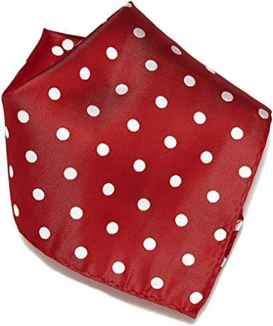 Burgundy Polka Dot Pocket Square Handkerchief Hanky