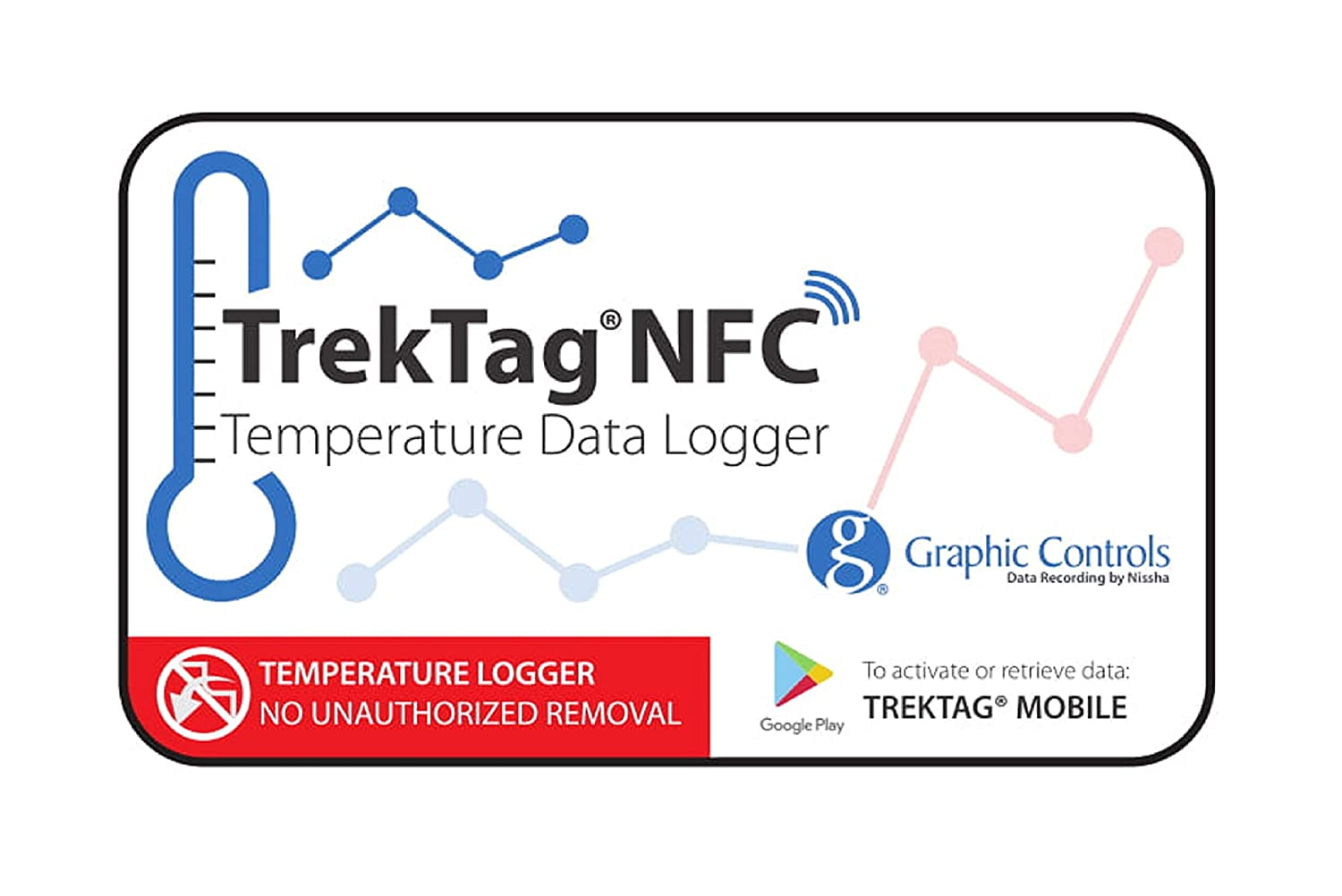 Image of (10 Pack) TrekTag NFC Temperature Data Logger- Disposable Cold Chain Temperature Data Recorder Data Loggers