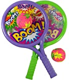 Liberty Imports Boom Drum Tennis Racket Sports Toy Set for Kids | Includes 2 Rackets and Soft Balls