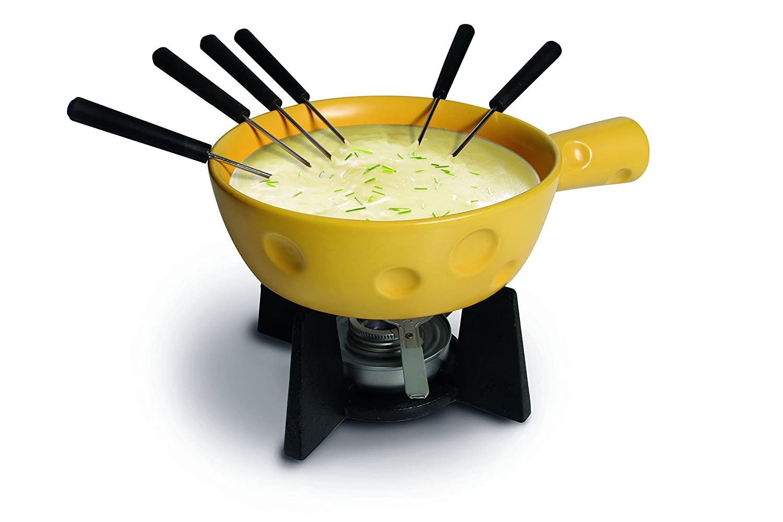 Boska Holland 853512 SuperCheesy Fondue Pot 1 Liter Yellow /& Black