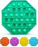 Lizber Push Pop Fidget Toy, Push Pop Bubble Fidget Sensory Toy, Bubble Popper Anxiety Relief Autism Toy, Silicone…