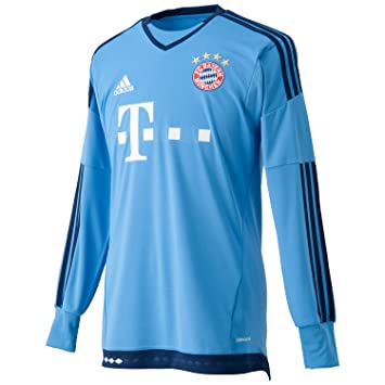 adidas FC Bayern München Replica Heim Torwart Camiseta, Hombre, Azul, L: Amazon.es: Zapatos y complementos