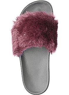 614231e2d76 NewYouDirect Fur Slides for Women