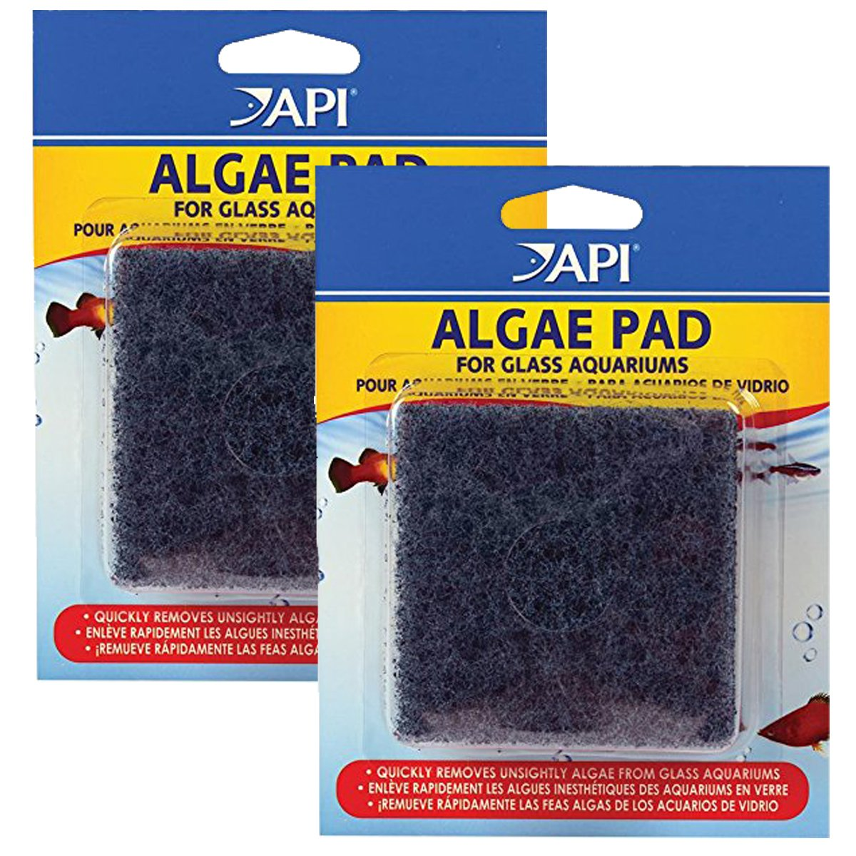 a8efeaf956a1 Amazon.com   API HAND HELD ALGAE PAD For Glass Aquariums 1-Count Container    Aquarium Algae Scrapers   Pet Supplies