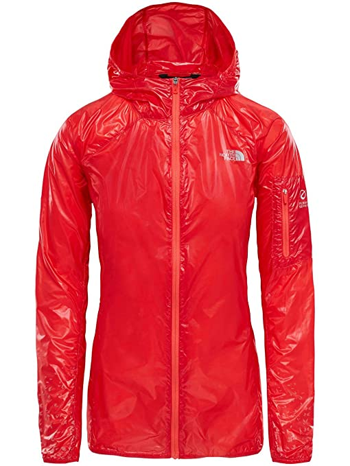 North Face W Flight RKT JKT Chaqueta Impermeable, Mujer, Juicy Red, M