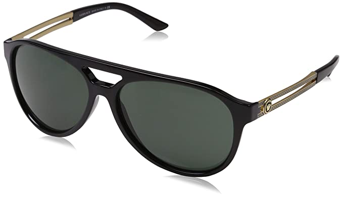 8bb5a539967 Amazon.com  Versace Women s VE4322 Black Grey Gradient Sunglasses ...
