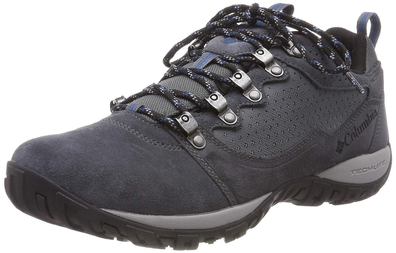 Columbia Peakfreak Venture Low Suede WP, Zapatillas de Senderismo para Hombre 44 EU|Gris (Graphite, Phoenix Blue 054)