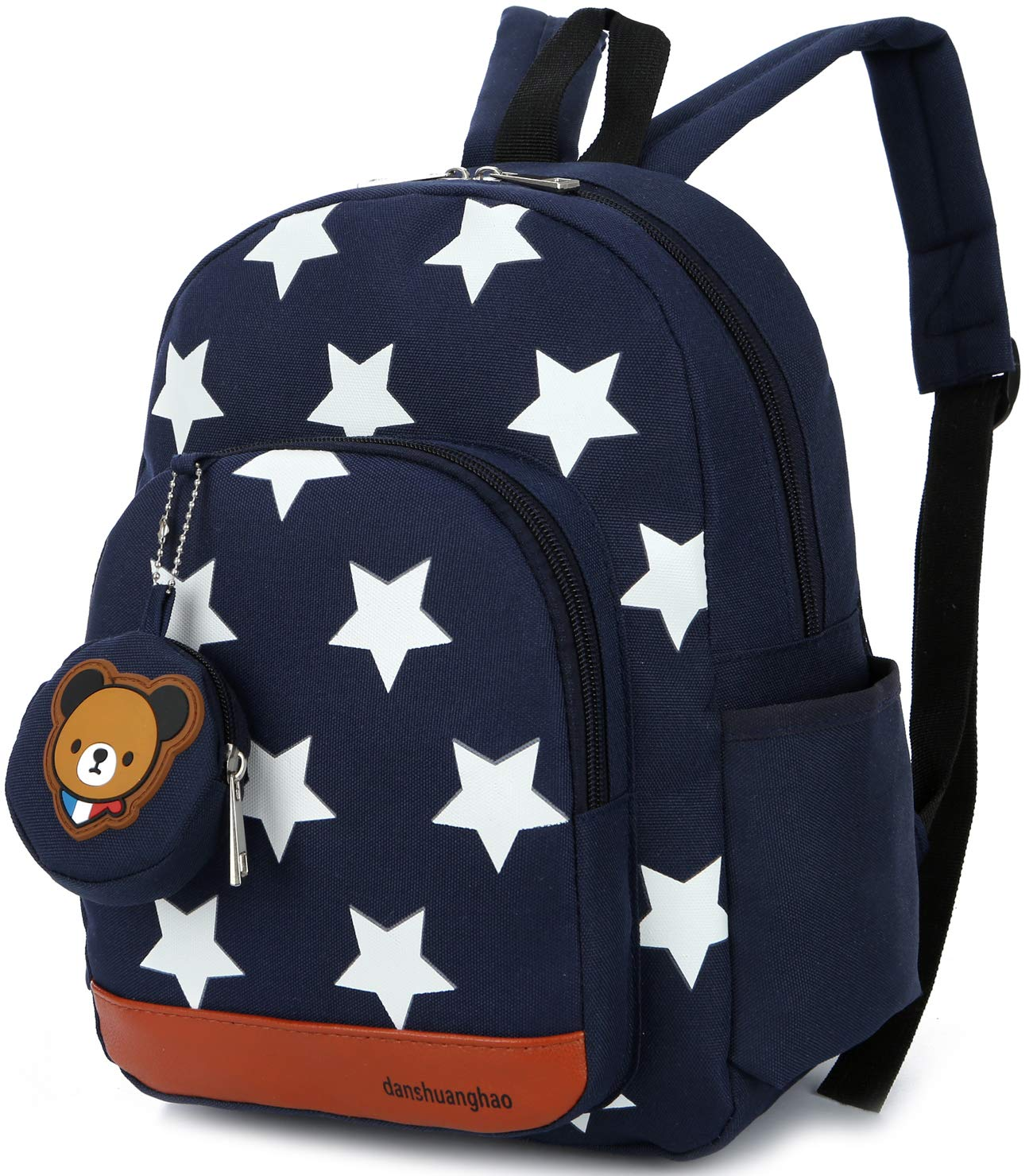 Children Kid Backpack Preschool with Safety Harness Leash Strap Star Boys