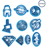 Fatalom super eroe Batman Superman Cartoon Avengers plastica cottura stampi impressione, plastica Cookie cutter pasticceria timbro biscotto Mold 10PCS