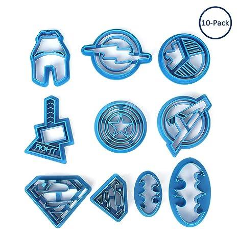 Fatalom Super Hero Batman Superman Cartoon Avengers moldes de plástico para hornear, moldes de plástico
