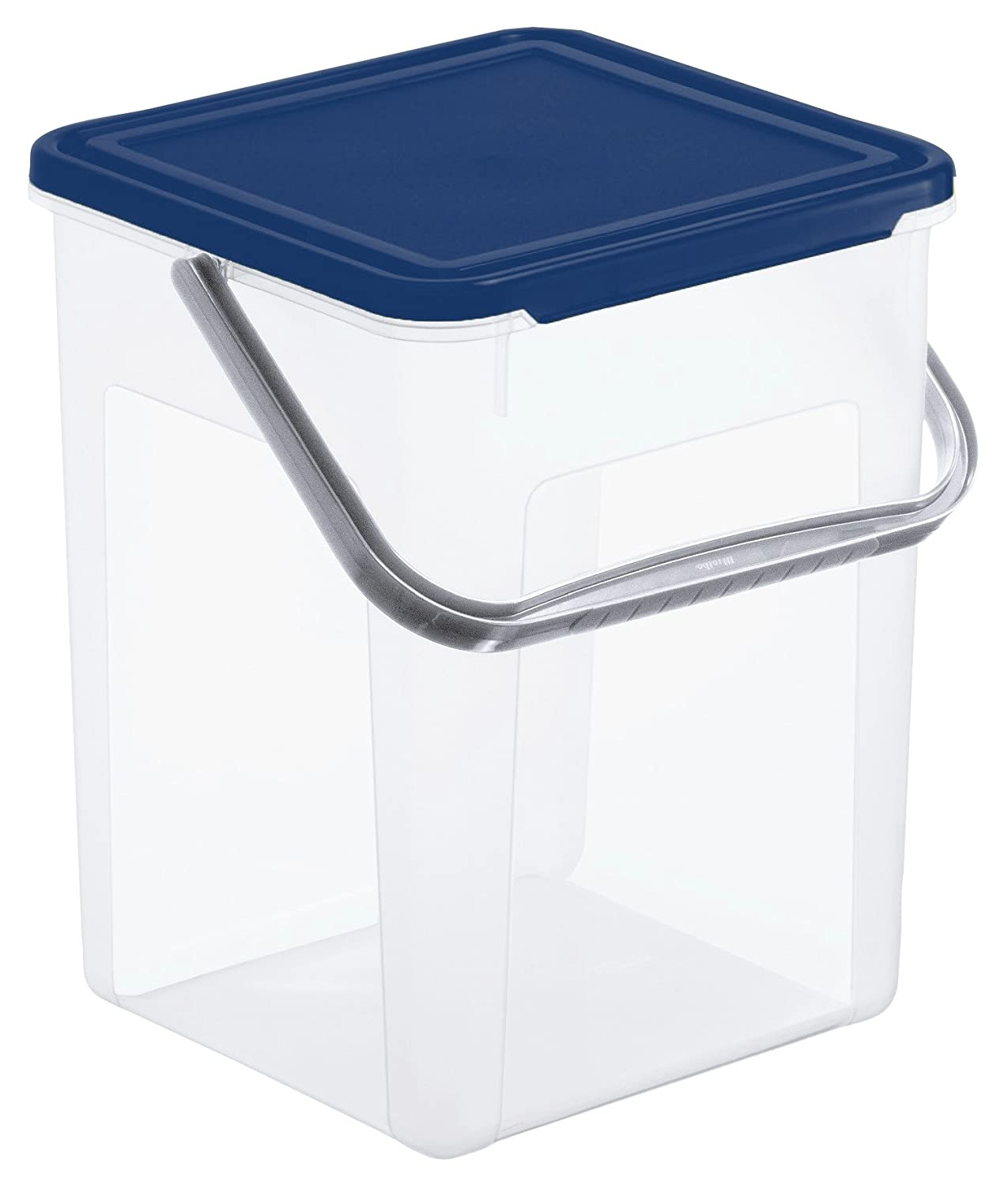 Rotho washing powder storage container Basic 7 l - with hinged lid and handle - suitable for 5 kg of detergent - 23 x 22.5 x 27.5 cm (lxwxh) - transparent/green - plastics (PP) Rotho Kunststoff AG 1770105519