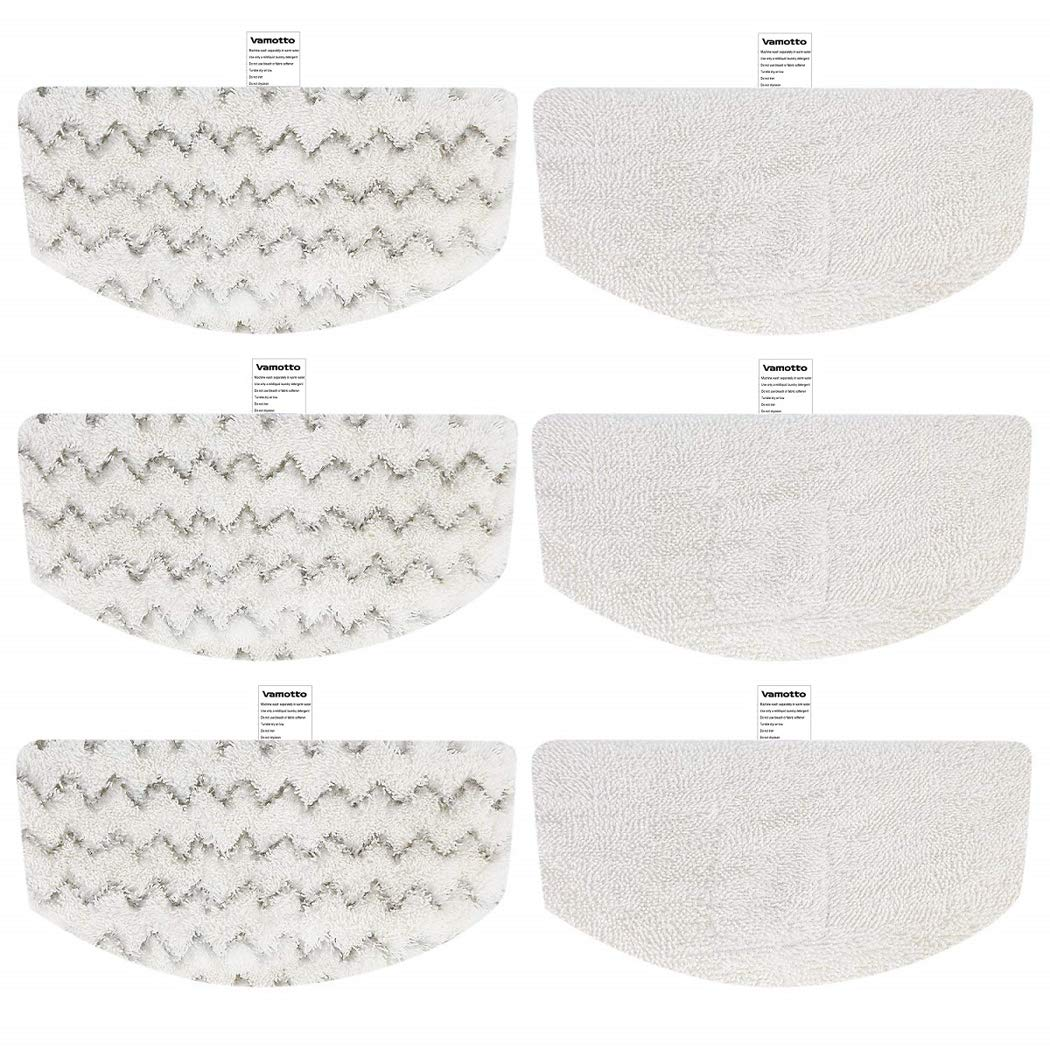 Vamotto 6 Pack Washable Steam Mop Pads Replacement for Bissell Steam Mop Powerfresh 1940 1440 1940W 19404 1940Q 19408 1940A Series Mopping pad Scrubbing Pads 1544 2075A 1806 5938 by Vamotto