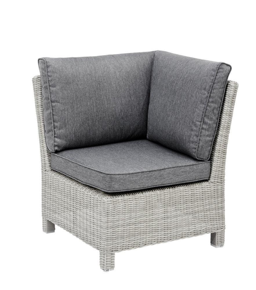 kettler palma modular eckteil inkl kissen white wash g nstig kaufen. Black Bedroom Furniture Sets. Home Design Ideas