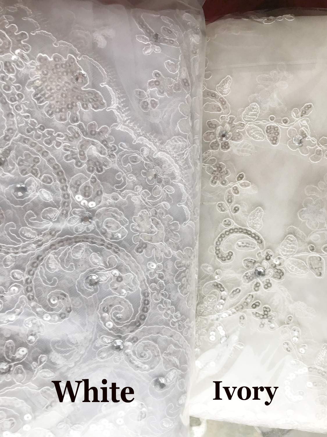 Fenghauvip 2 Tier Cathedral Wedding Veils 3D Butterfly Appliques Veils for Bride Free Comb by Fenghuavip (Image #3)