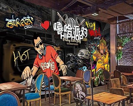 Yosot Hip Hop Evening Party Wallpaper Custom 3d Bar Wallpaper Ktv