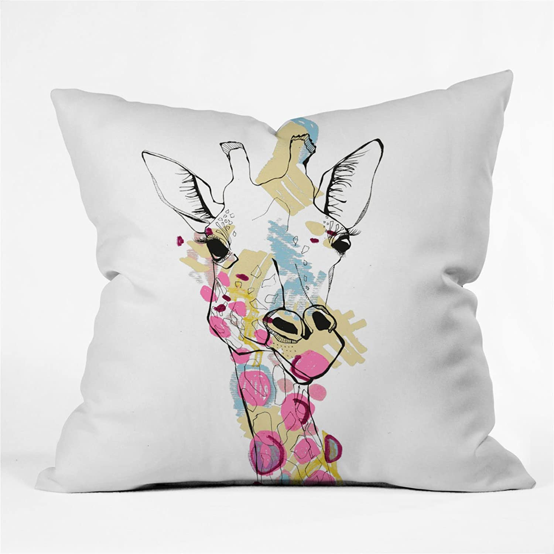 23 x 23 Square Floor Pillow Kess InHouse Roberlan Yo Sup Brown Pop Art
