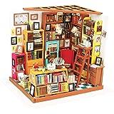 Hands Craft DIY Miniature Dollhouse Kit | 3D Model Craft Kit | Pre Cut Pieces | LED Lights | 1:24 Scale | Adult Teen | Sam's