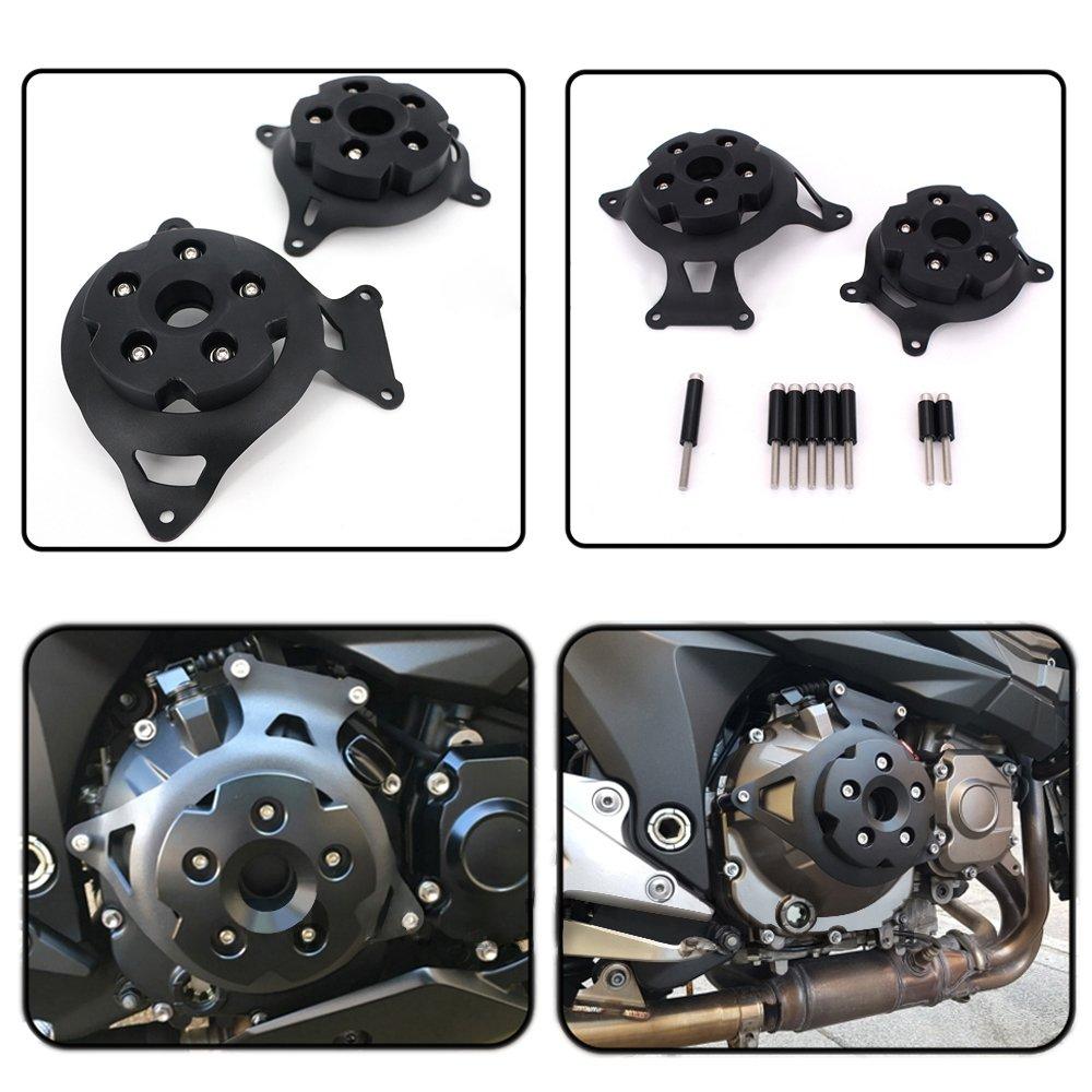 Black YUANQIAN Z650 Motorcycle Front Brake Fluid Cylinder Reservoir Bottle Cover Cap for Kawasaki Z900 Z650 2017-2018 Z800 2013-2016 ER6F ER6N ninja650 2009-2016 VERSYS650 2007-2017