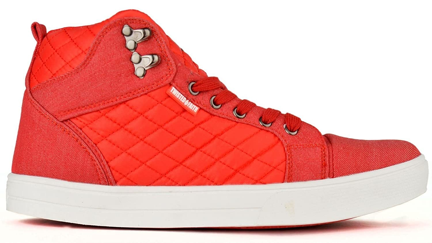 01222fe27a2 Twisted Faith 'Maverick' Men's High-Top Quilted Canvas Trainers