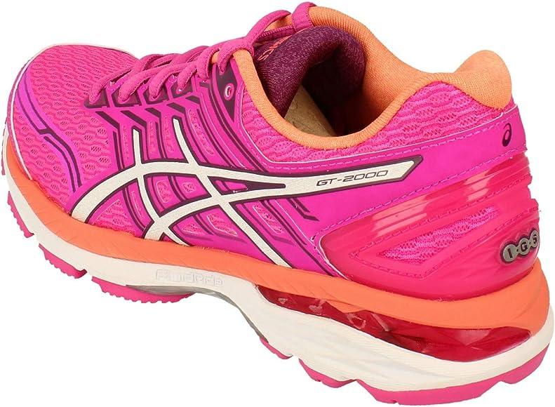 ASICS T757N2001, Zapatillas De Running para Mujer, Rosa (Pink Glow/White/Dark Purple), 37 EU: Amazon.es: Zapatos y complementos