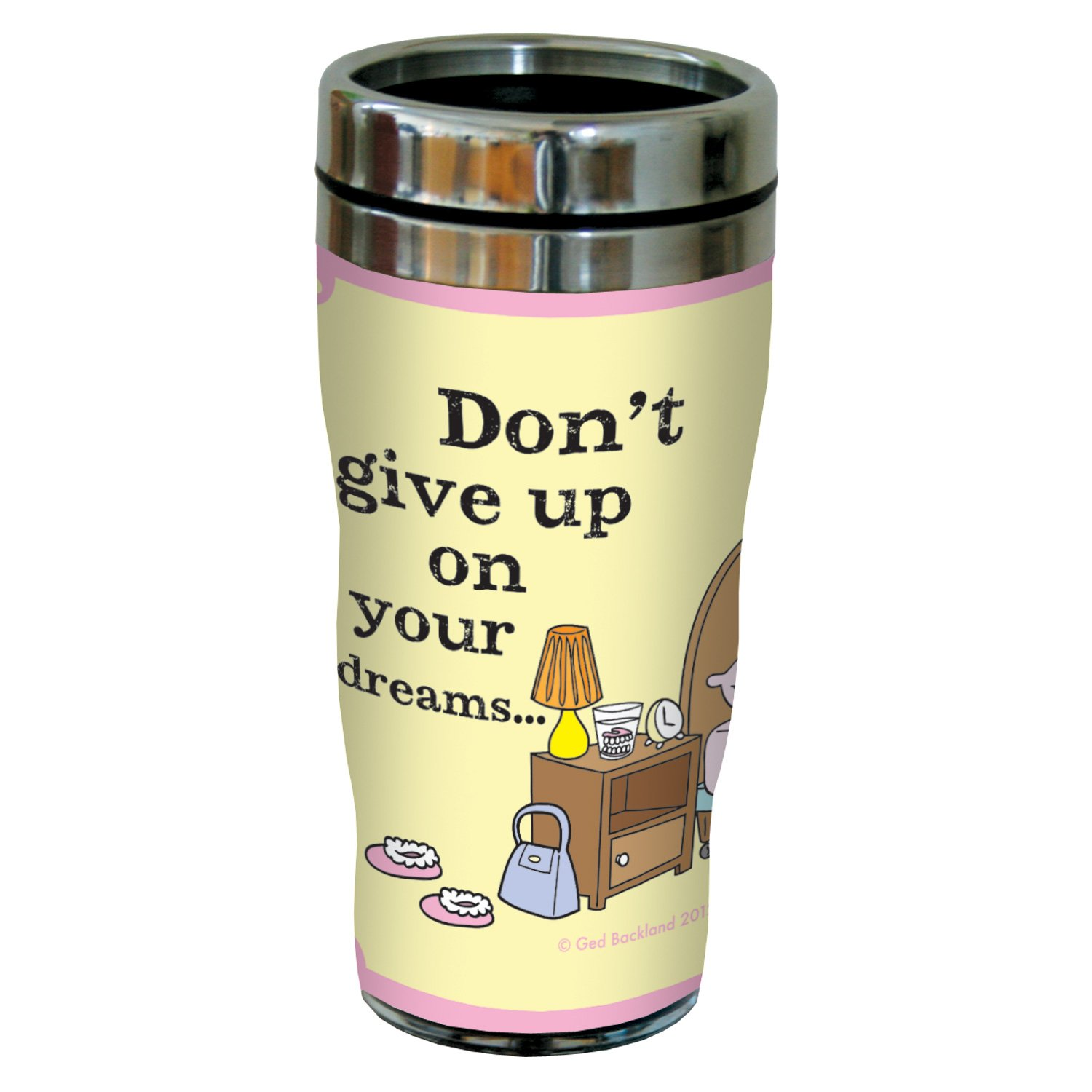 Tree-Free Greetings sg23893 Hilarious Aunty Acid Your Dreams by The Backland Studio Ltd 16 Oz Sip N Go Stainless Steel Lined Tumbler