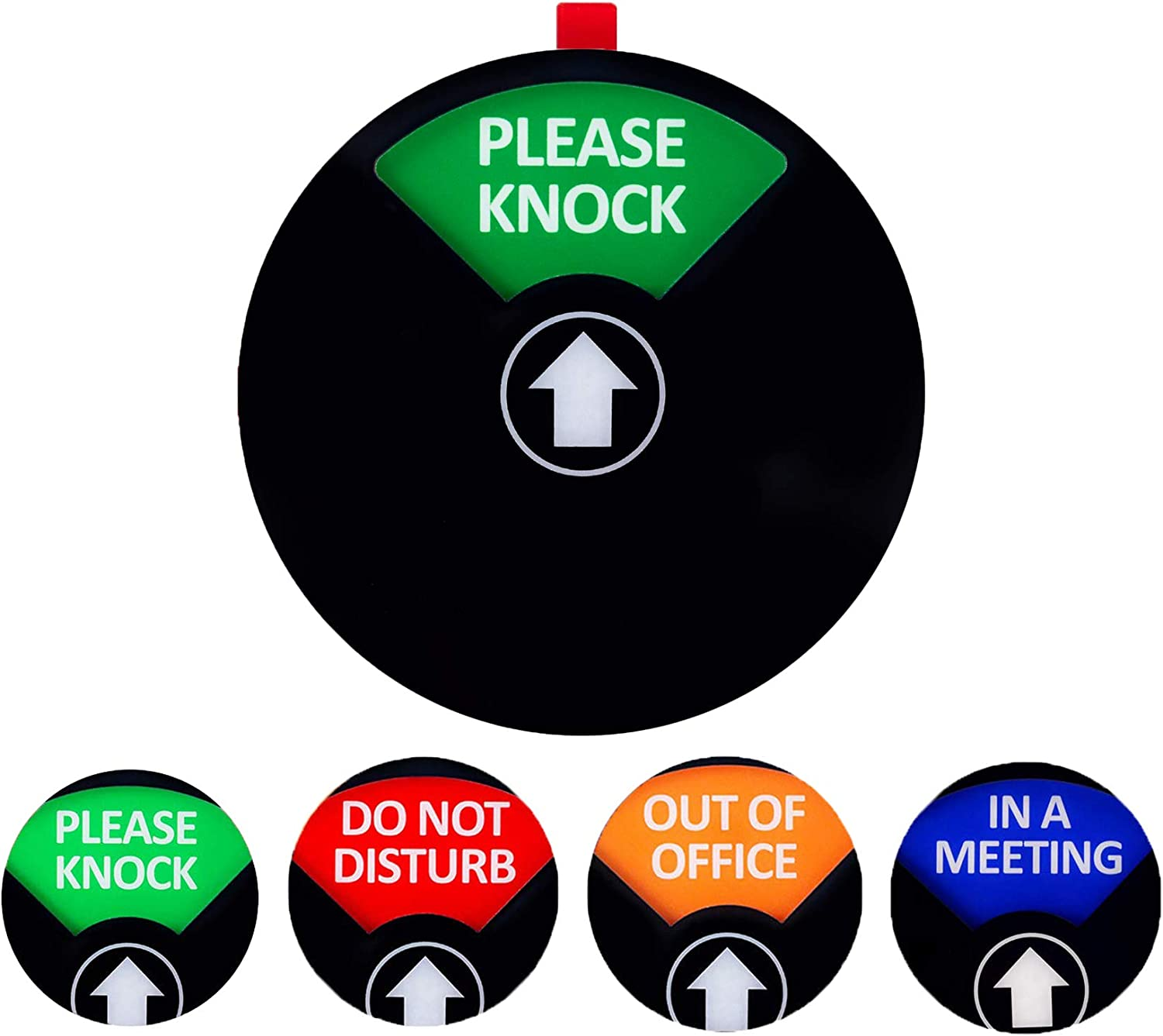 Privacy Office Sign,Do Not Disturb/Please Knock/Out of Office/in a Meeting Sign, Privacy Door Sign That Lets Others Know Whether You're Available Or Not(4.9inch,Black)