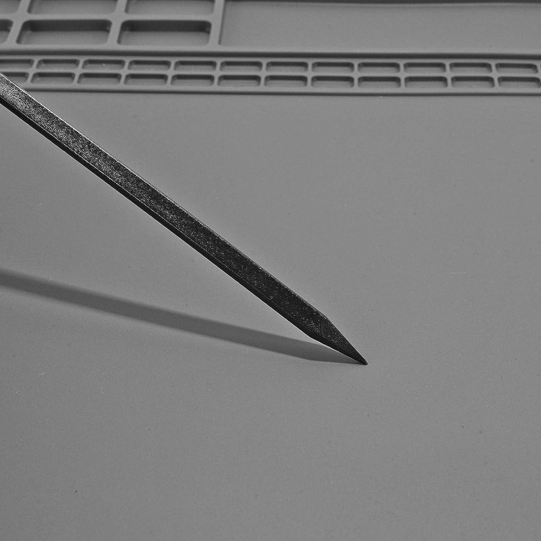 Tapis de r/éparation en silicone r/ésistant /à la chaleur pour fer /à souder 40 x 30 cm Gris