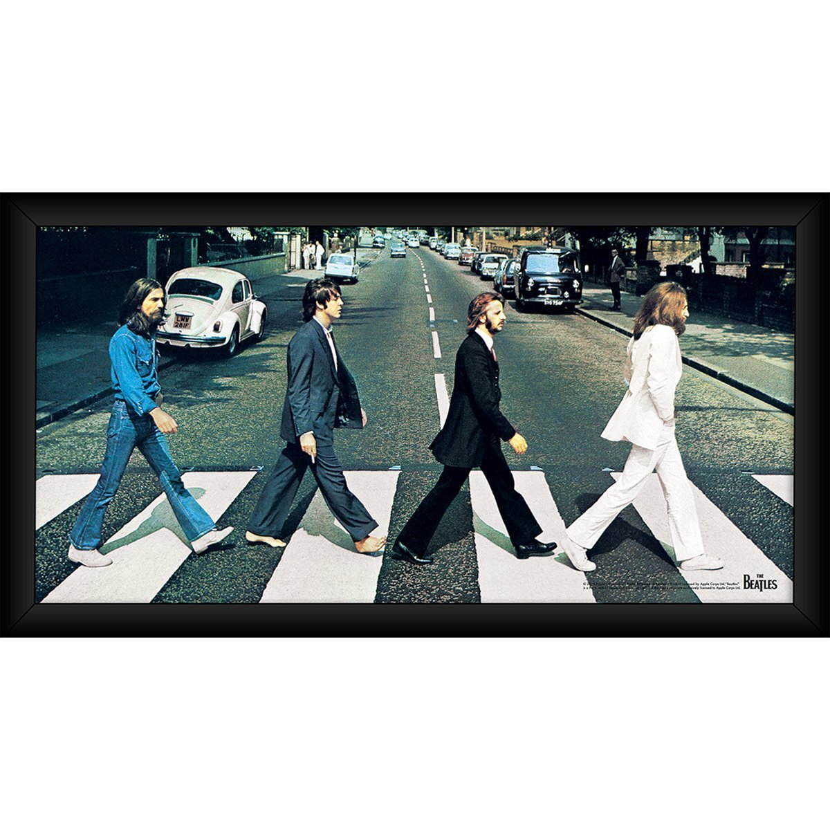 The Beatles Abbey Road 10x20 Framed Collage Steiner Sports
