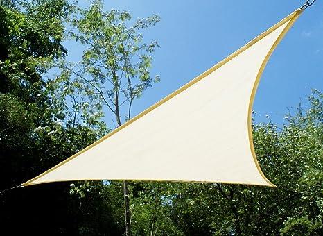 Tende A Vela Kookaburra   Triangolare 3.6m Avorio Traspirante Intrecciata