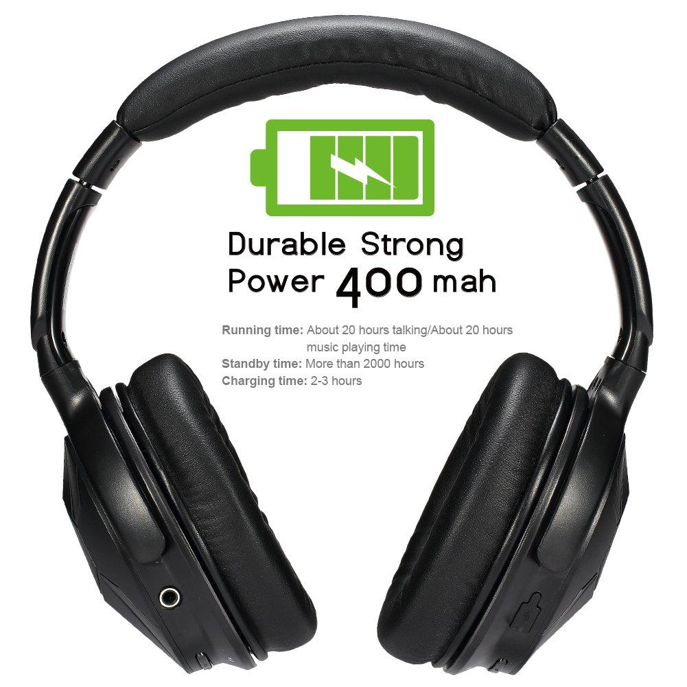 Auriculares de Diadema Cerrados,AUSDOM Auriculares Inalámbricos Bluetooth Over Ear Estéreo Sonido 20 Horas de Reproducción Para Smartphone y Tableta ...