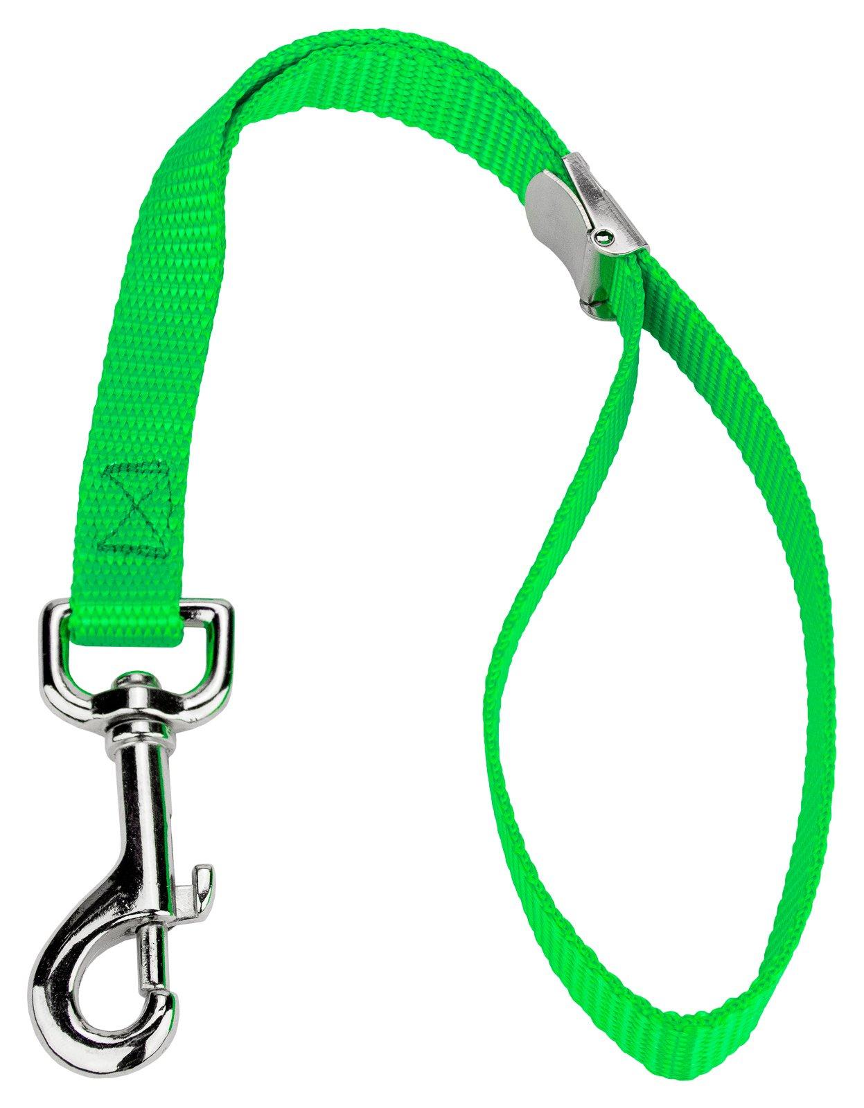 12 - Country Brook Petz 5/8 Inch Hot Lime Green Nylon Cam Lock Grooming Loop