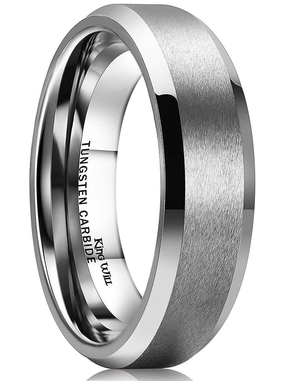 Mens Black Wedding Bands 8mm Tungsten Carbide Rings For Men Him Blue Line Matte Finishamazon: Black Wedding Bands Him At Websimilar.org