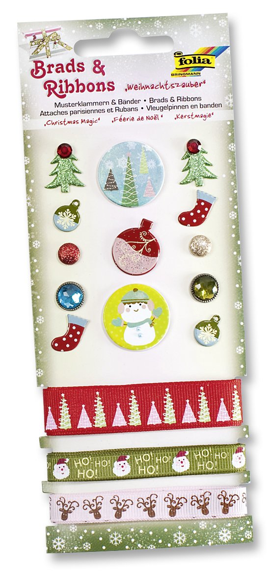 Folia 12608  - Pegatinas y cintas para decorar diseñ o de Navidad [Importado de Alemania]