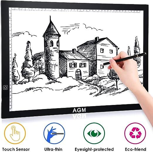 AGM Mesa de Luz Dibujo A3, LED Tableta de Luz, Dibujo De Luz Super ...