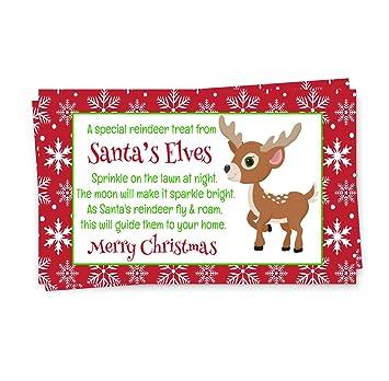 Amazoncom Santas Magic Reindeer Food Tags Red Set Of 15 Kids