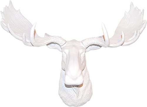 Near and Deer M0101 Faux Taxidermy Moose Wall Mount, White