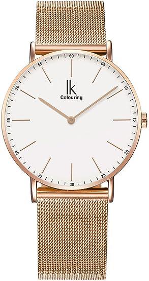 Alienwork IK Reloj Unisex Relojes Mujer Hombre Acero Inoxidable ...