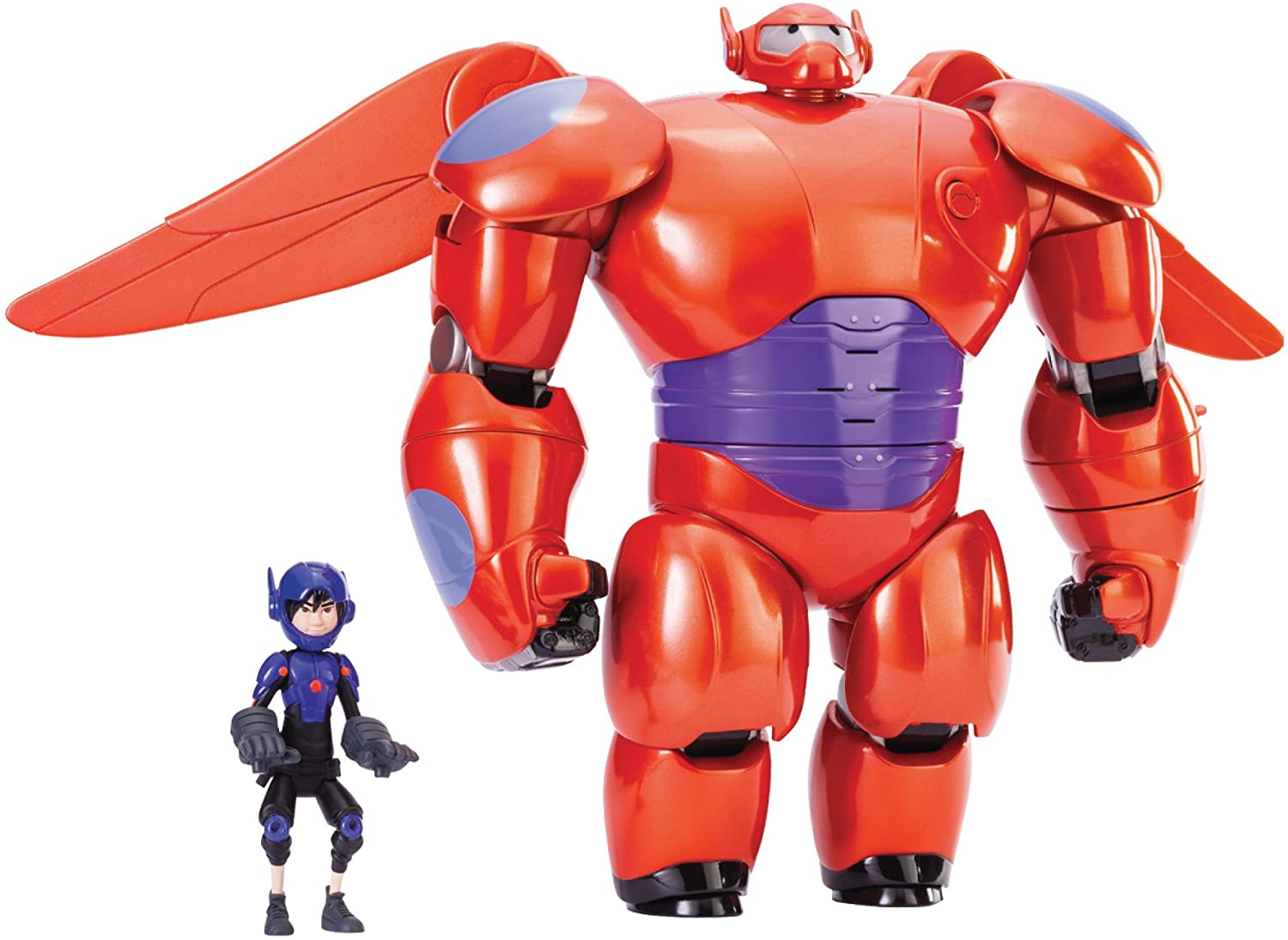Amazon Com Big Hero 6 11 Deluxe Flying Baymax With 4 5 Hiro Action Figures Toys Games