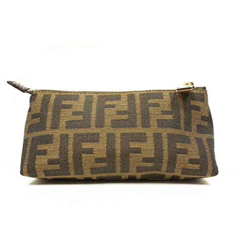 73bb66b6ee Fendi Signature Brown Cosmetic Bag Pouch - Large  Amazon.ca  Luggage   Bags