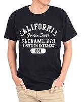 (トップイズム) TopIsm アメカジリンガーカレッジロゴプリント半袖Tシャツ