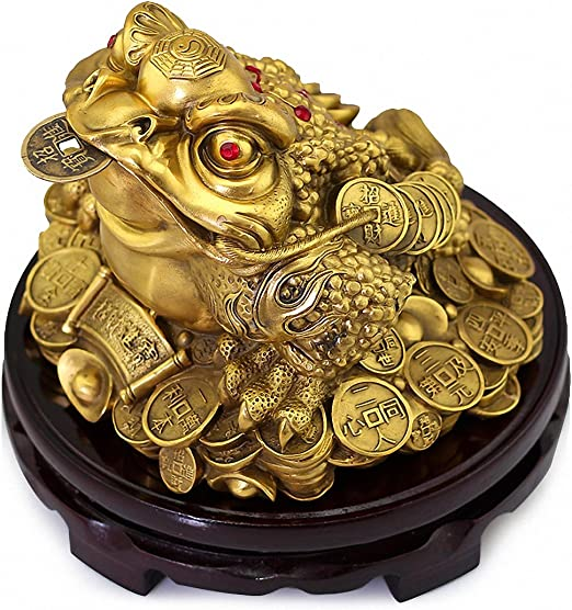 """10/""""H Chinese Lucky Money Wealth Dogs Statue"""