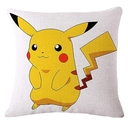 gjdm Fundas para Cojines Cómodo Cojín Suave Pikachu Pokemon ...