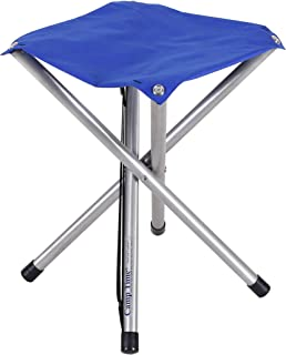 product image for Camp Time Jumbo Stool, Chair Height Sitting Comfort, 300 Pound Capacity, Elegant Folding Design, 1.6 pounds with Shoulder Strap, USA Made