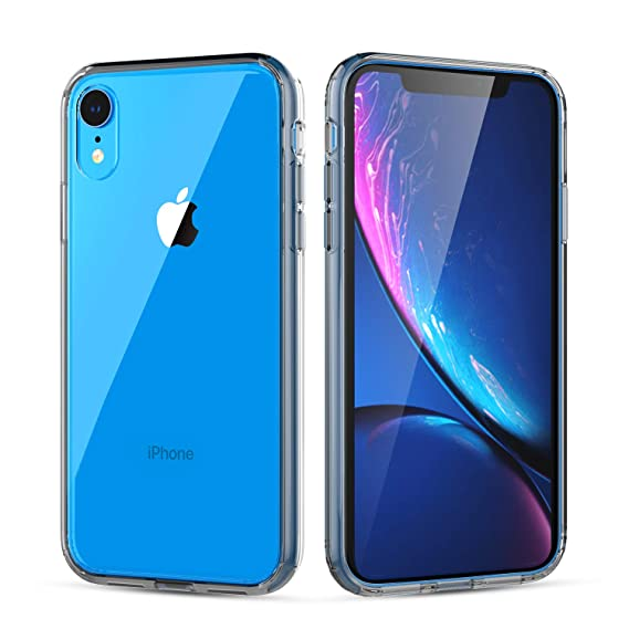 iphone xr black clear case