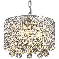 Lámpara de araña de cristal moderna, 3 bombillas